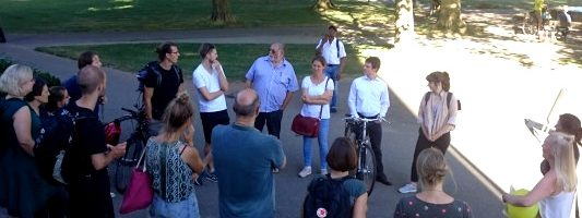 Fesa-Event: Klimawandel und Klimaanpassung in Freiburg –  Stadtspaziergang und Vortrag von Silke Schlegelmilch. Ein Rückblick.