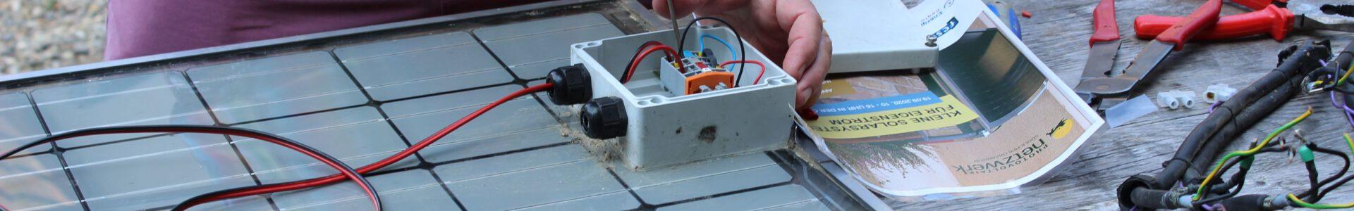 PV Module selber bauen. Ein gelungener Workshop