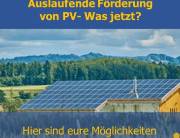 Welche Möglichkeiten gibt es für ausgeförderte PV-Anlagen?
